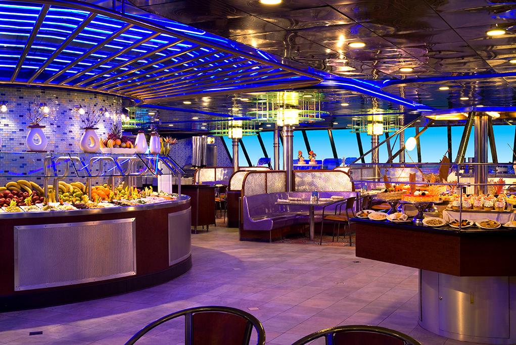 Restaurante-buffet-Seaview Carnival Sensation