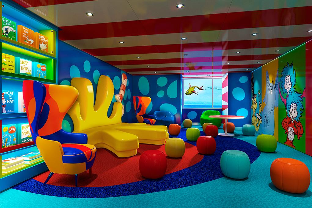 Club Infantil Dr Seuss Carnival Panorama