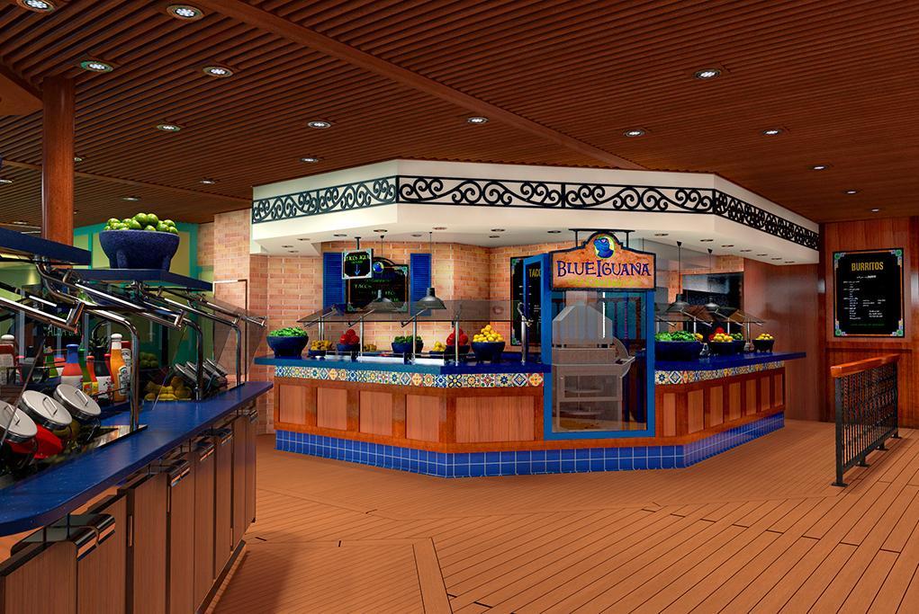 Restaurante Blue Iguana Cantina Carnival Panorama