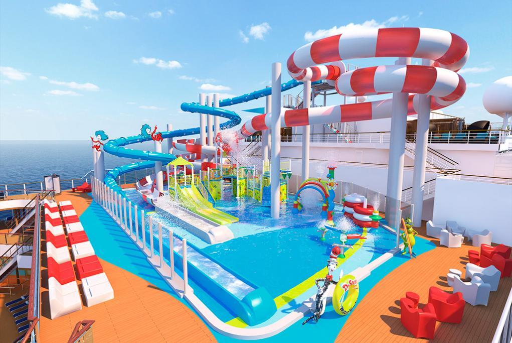 Toboganes WaterWorks Carnival Panorama