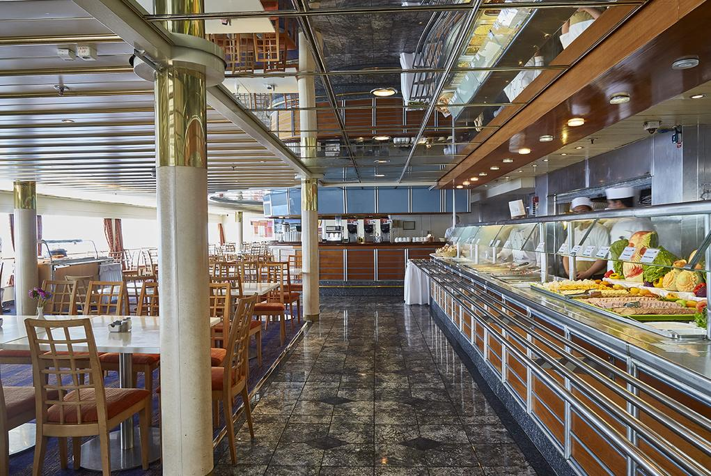 Restaurante buffet Leda Celestyal Crystal