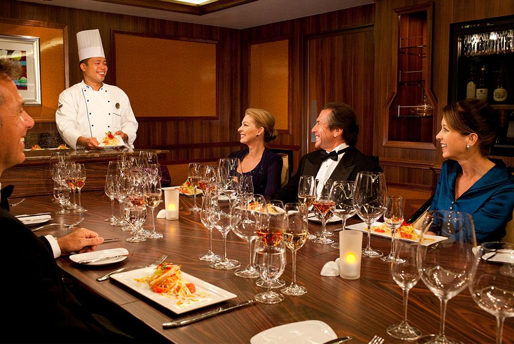 Restaurante Chefs Table Independence of the seas