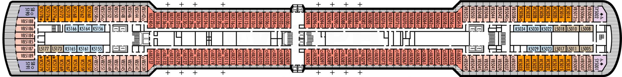 Cubierta 5 MS Zuiderdam