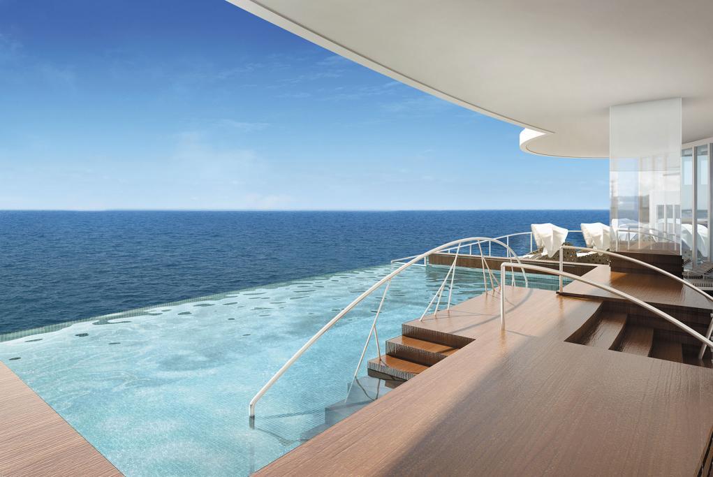 Infinity Pool Spa Seven Seas Splendor