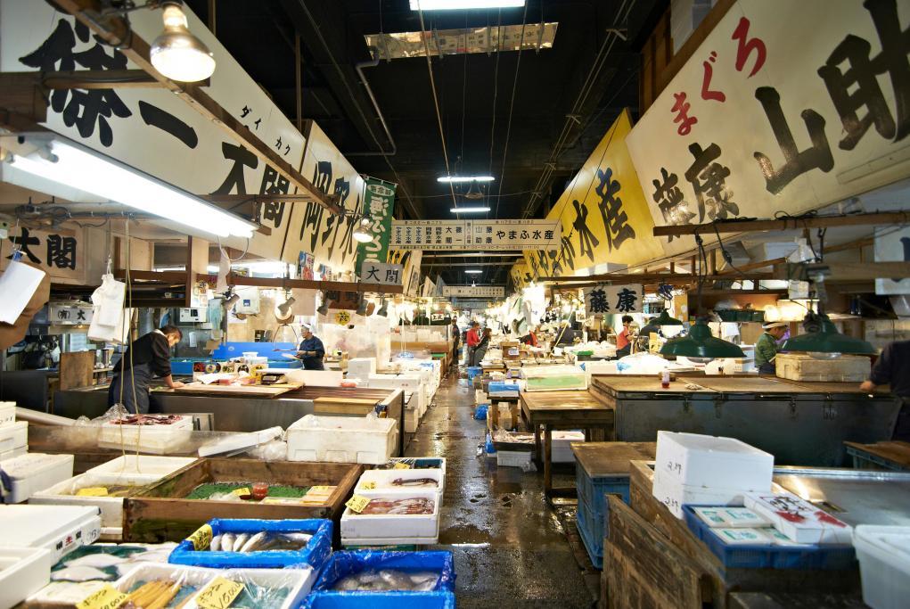 Mercado de Pecado Tsukiji - Tokio