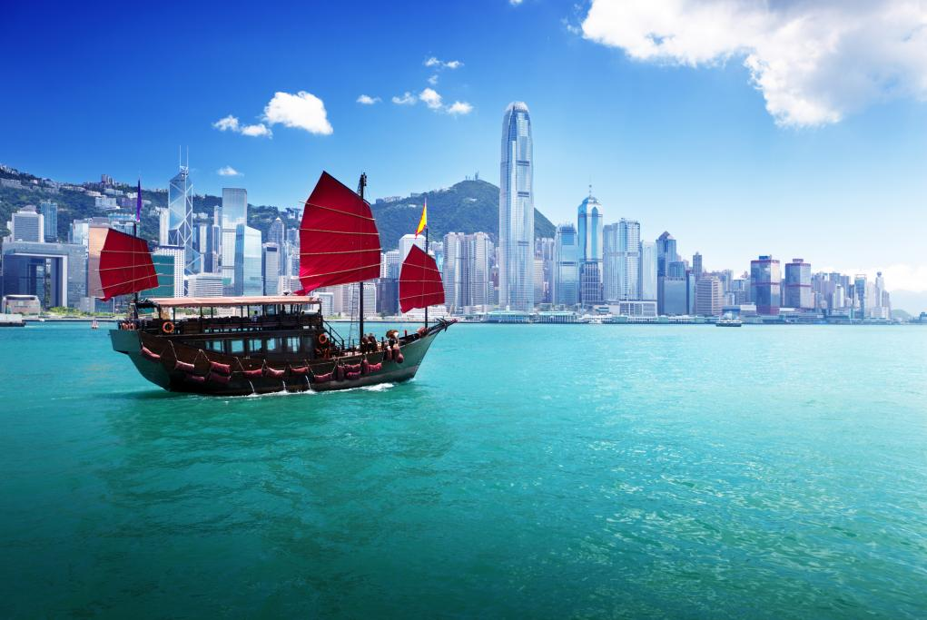 Paseo en Junco por la bahía - Hong Kong