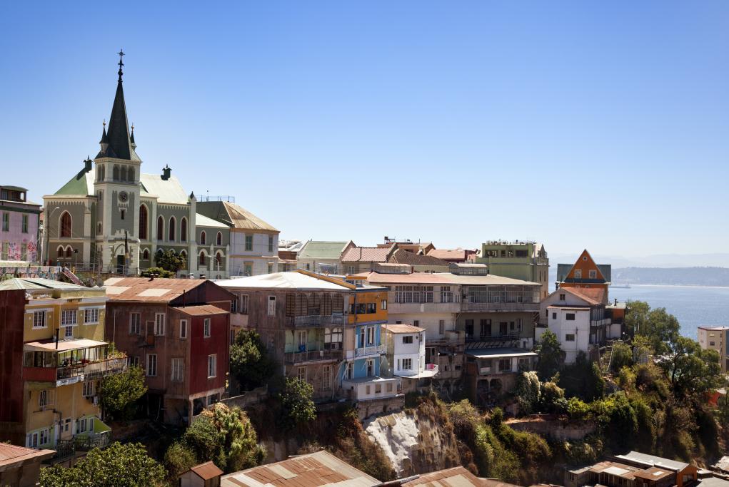 Cerro Concepción - Santiago de Chile - Valparaíso