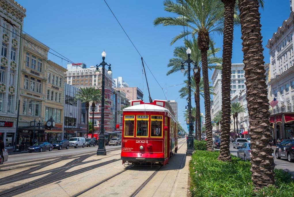 Paseo en tranvía o street cars - Nueva Orleans