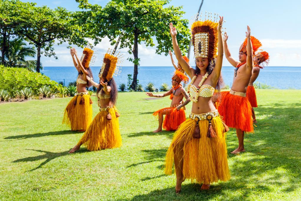 Espectáculo de danza polinesia - Bora Bora - Islas de la Sociedad